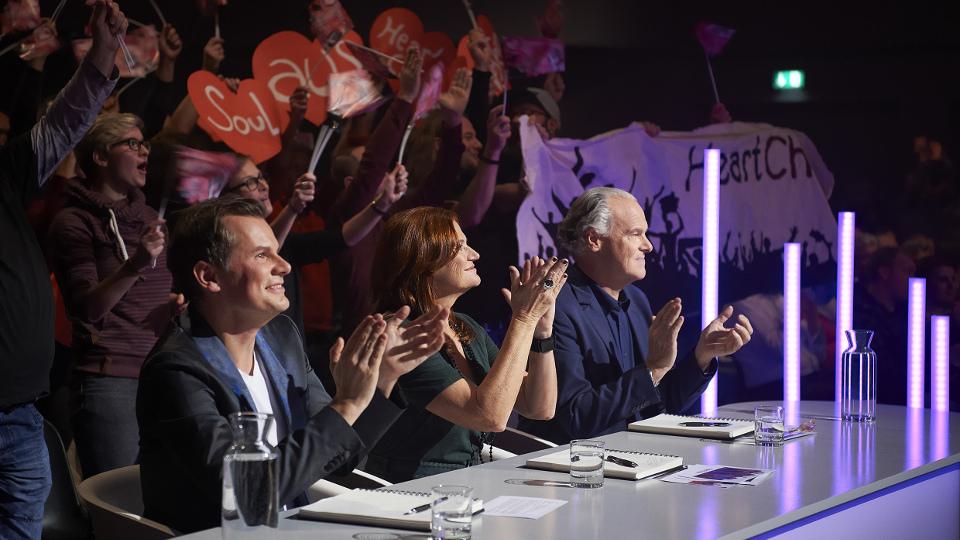 Jury v.l.n.r.: Malte Arkona, Pe Werner und Rolf Schmitz-Malburg