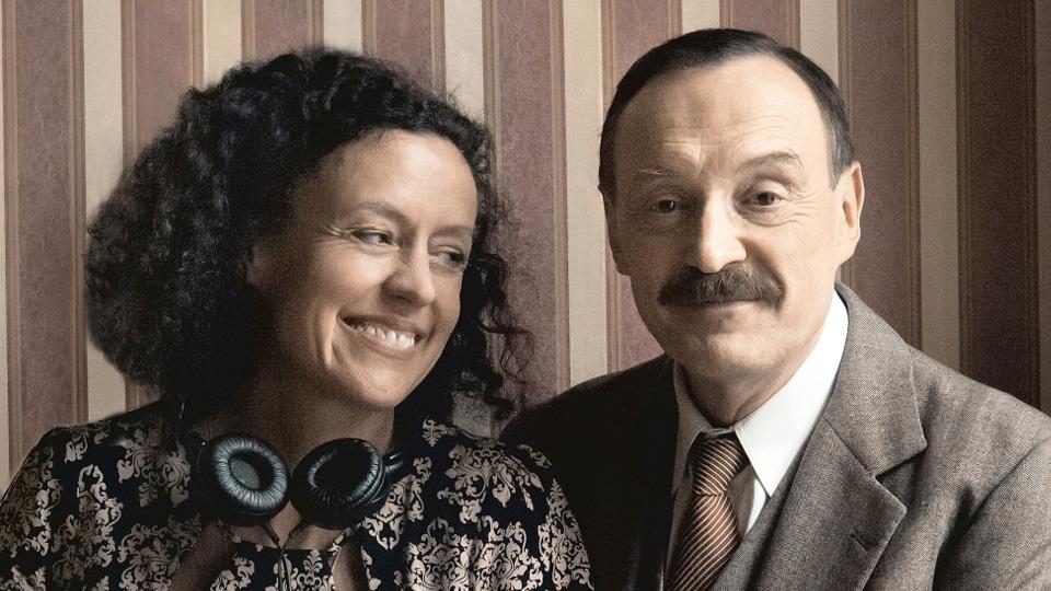 Regisseurin Maria Schrader und Josef Hader während der Dreharbeiten