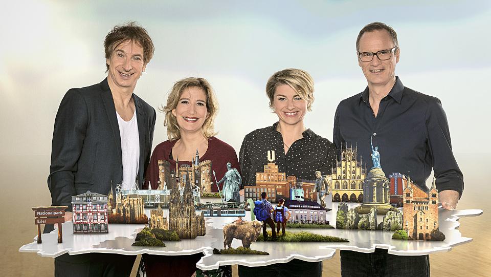 Ingolf Lück (l), Yvonne Willicks (2.v.l), Sabine Heinrich und Thomas Bug
