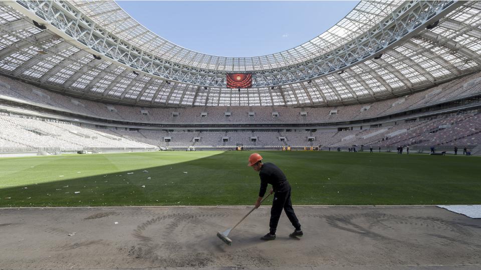 Bauarbeiten im Luschniki-Stadion