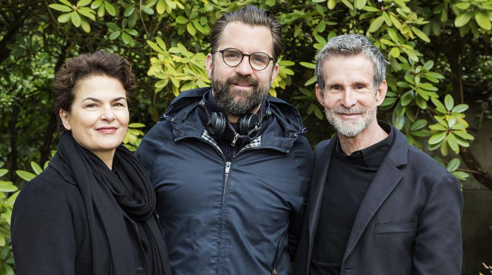V.l. Barbara Auer, Regisseur Rick Ostermann und Ulrich Matthes