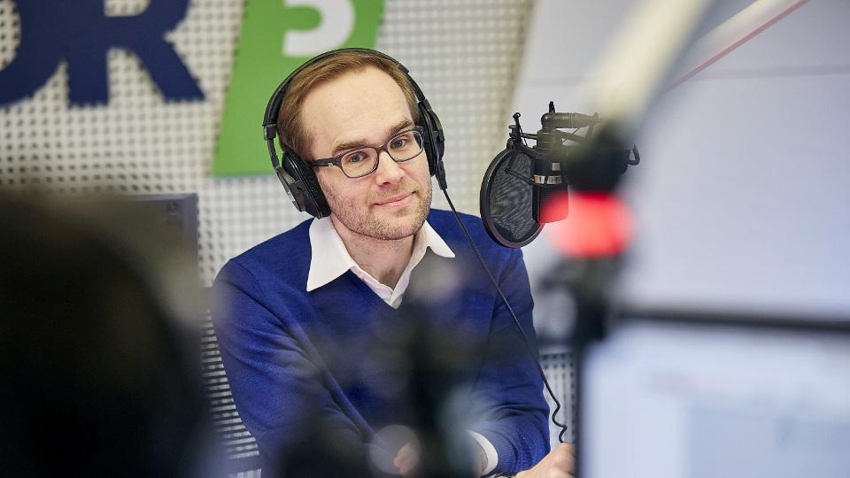 Max von Malotki im WDR 5 Studio