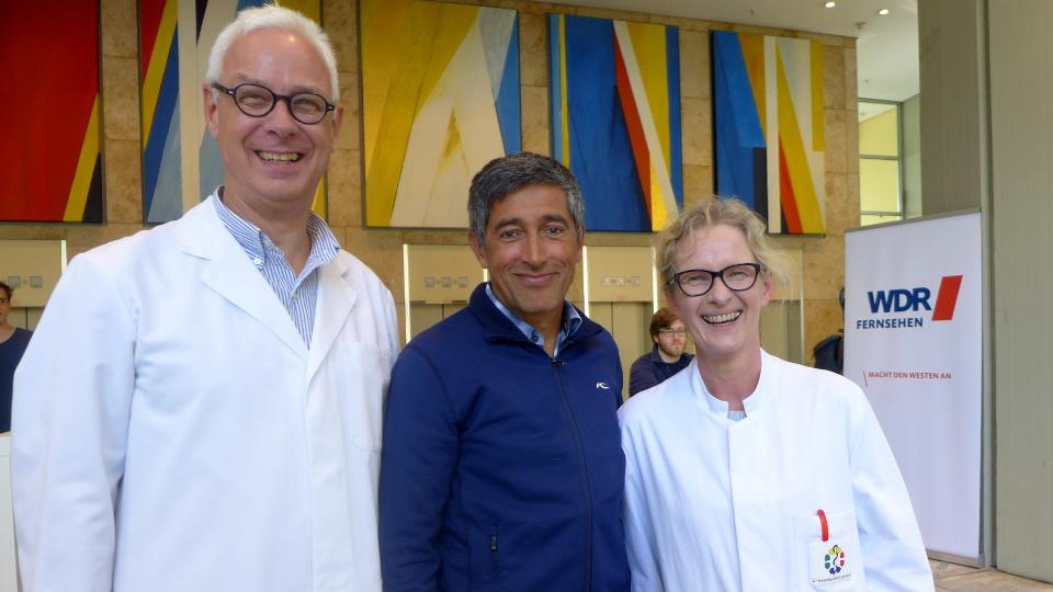 WDR Betriebsarzt Michael Neuber, Moderator Ranga Yogeshwar,Birgit Ross