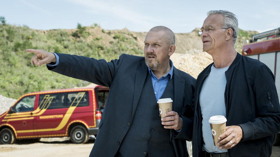 Freddy Schenk (Dietmar Bär, l) und Max Ballauf (Klaus J. Behrend)