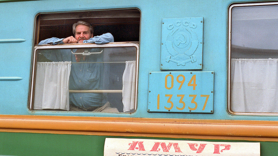 Ruge an Bord der Transsibirischen Eisenbahn