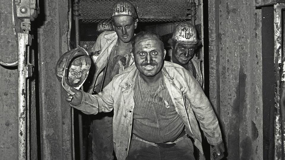 Kumpel im Bergwerk
