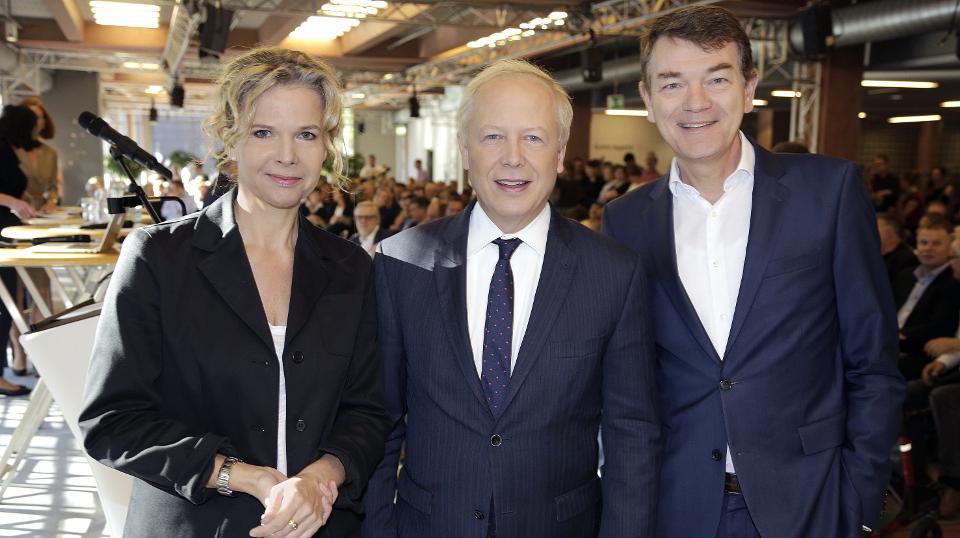 Tom Buhrow, Valerie Weber und Jörg Schönenborn
