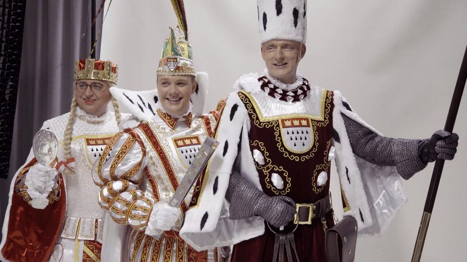 v.l.n.r. Jungfrau Emma, Prinz Michael II und Bauer Christoph