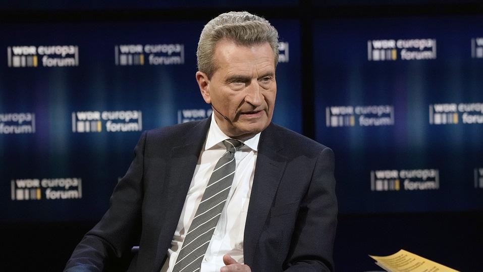 Günther H.Oettinger (EU-Kommissar für Haushalt und Personal, CDU)