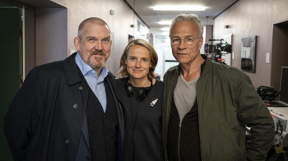 Drehstartfoto: Freddy Schenk (Dietmar Bär) Isabel Prahl (Regie) Max Ballauf (Klaus J. Behrend)