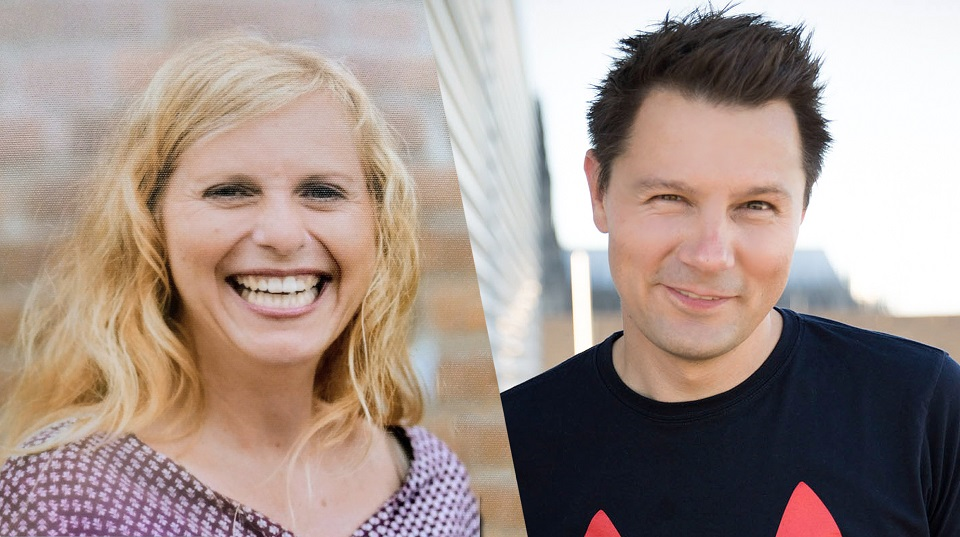 Grundschullehrerin Pamela Fobbe und WDR-Moderator André Gatzke